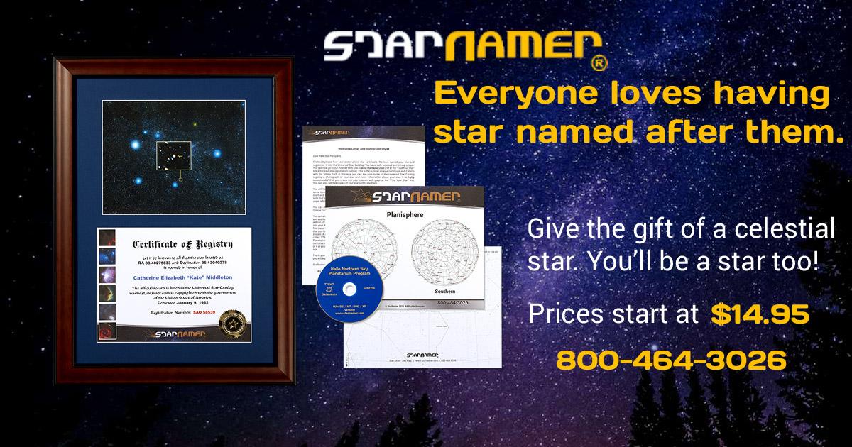 Name a Star - Buy a Star Naming Gift | StarNamer® Registry