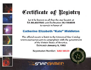 Example Star Certificate